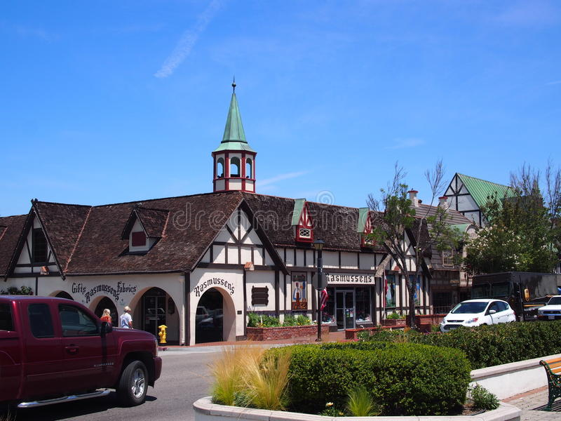 Ciudad de Solvang California fotos de archivo