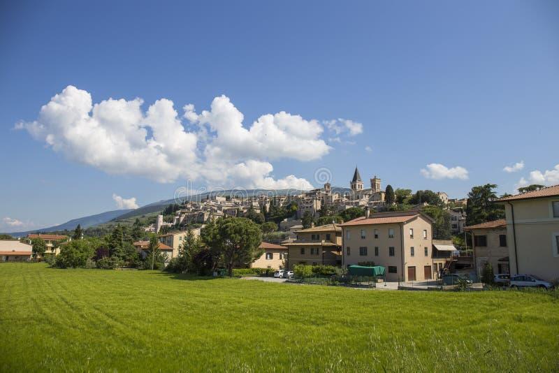 Ciudad de Spello en Umbría, Italia foto de archivo