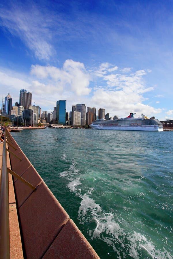 Ciudad De Sydney Circular Quay, Del Puerto Y De Las Rocas Imagen editorial