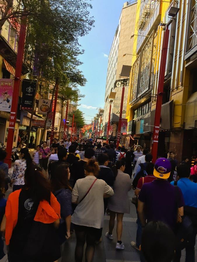 Ciudad de Taipei, Taiwán - 22 de noviembre de 2016: Ximending es la fuente imagen de archivo