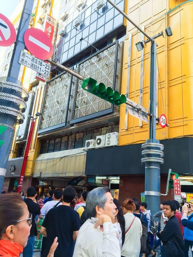 Ciudad de Taipei, Taiwán - 22 de noviembre de 2016: Ximending es la fuente imagen de archivo libre de regalías