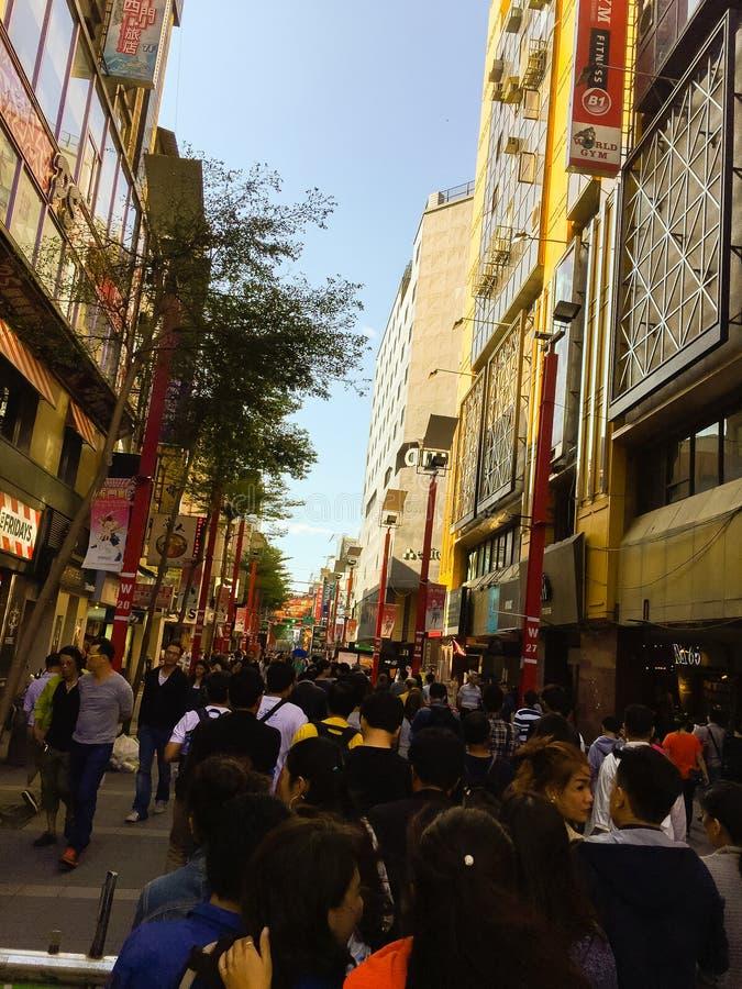 Ciudad de Taipei, Taiwán - 22 de noviembre de 2016: Ximending es la fuente foto de archivo libre de regalías
