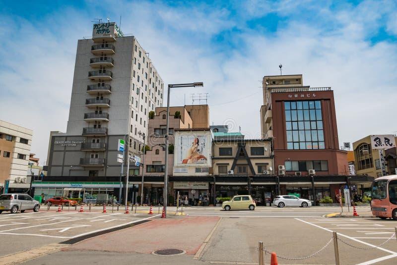 Ciudad de Takayama imagen de archivo