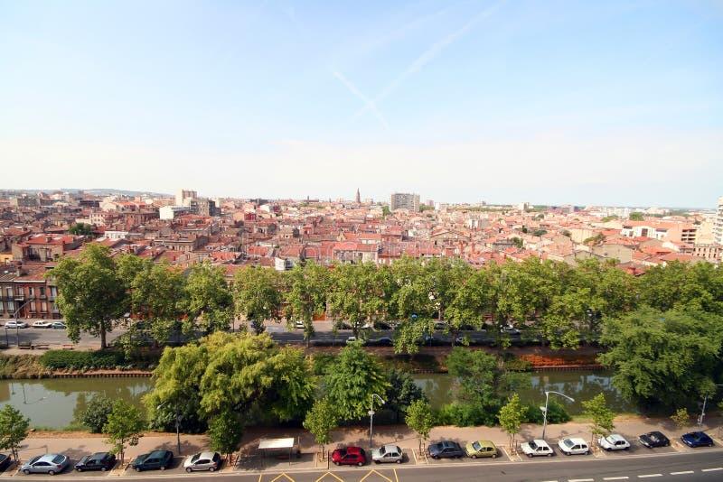 Ciudad de Toulouse y canal de Midi imágenes de archivo libres de regalías