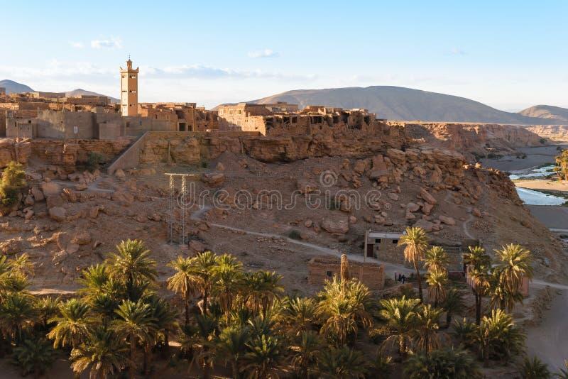 Ciudad de Trit cerca de Tata, Oued Tissint, Marruecos fotos de archivo