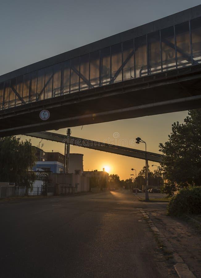Ciudad de Trmice por la tarde fotografía de archivo libre de regalías