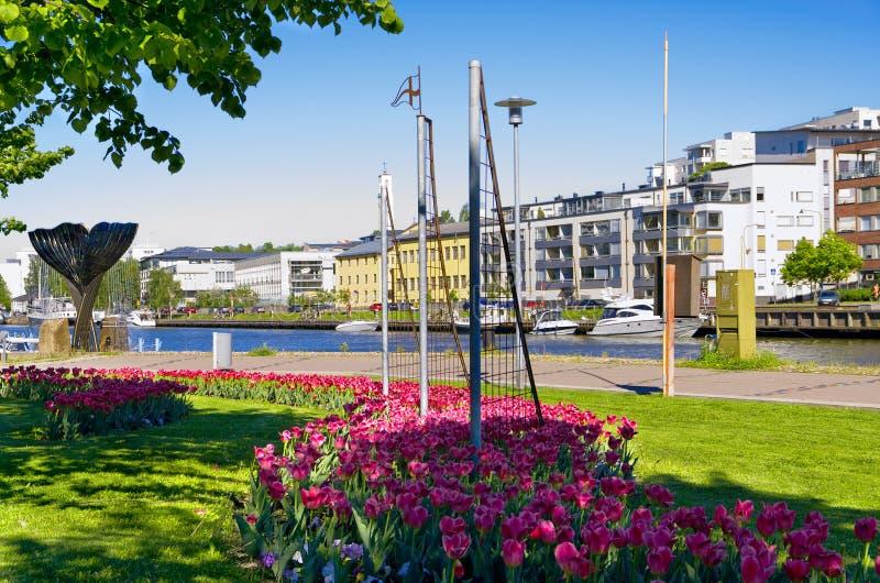 Ciudad de Turku Finlandia imagenes de archivo