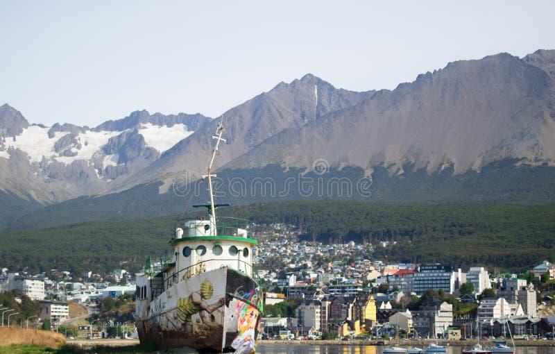 Ciudad de Ushuaia imagen de archivo