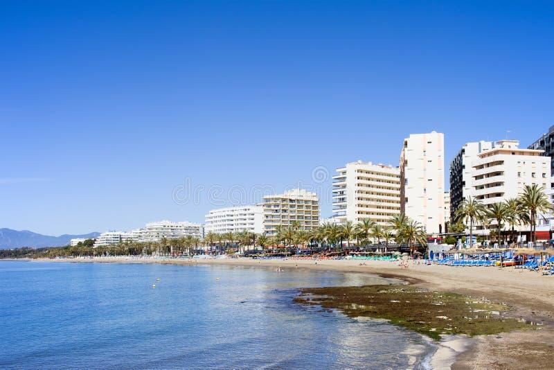 Ciudad de vacaciones de Marbella en España fotografía de archivo libre de regalías