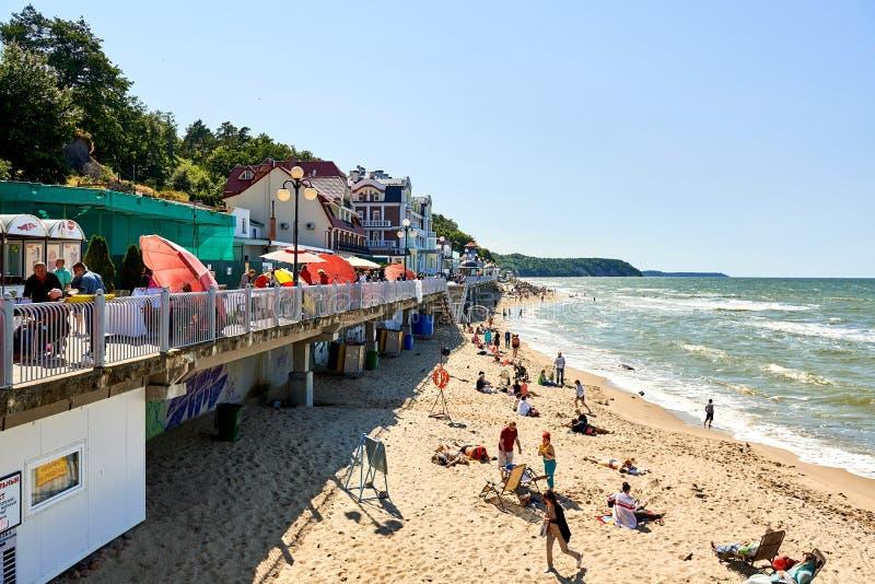 Ciudad de vacaciones de Svetlogorsk imágenes de archivo libres de regalías