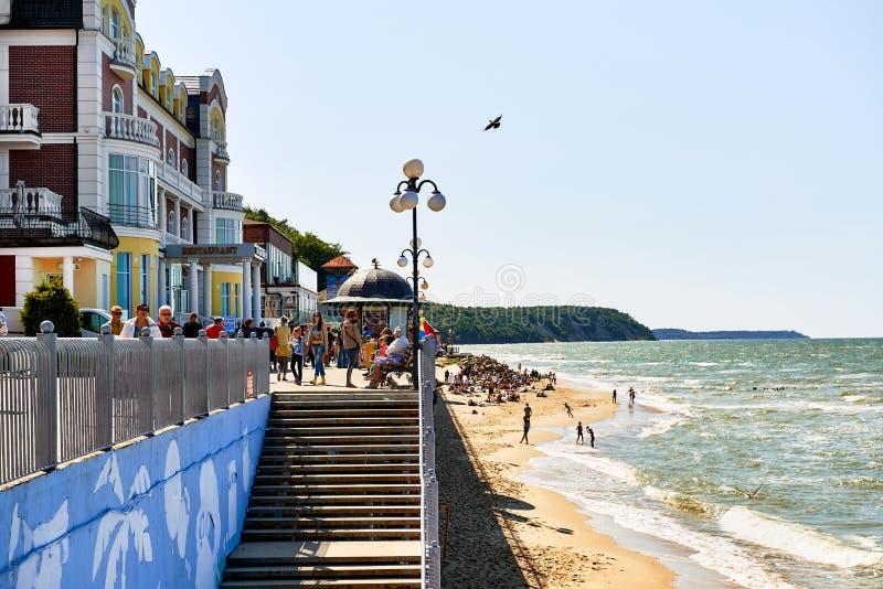 Ciudad de vacaciones de Svetlogorsk foto de archivo libre de regalías