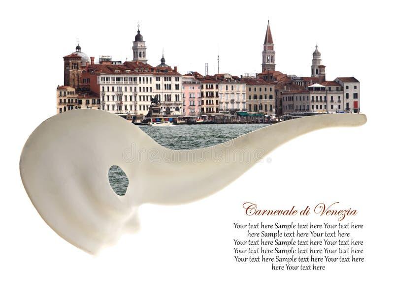 Ciudad de Venecia en máscara del carnaval fotos de archivo libres de regalías