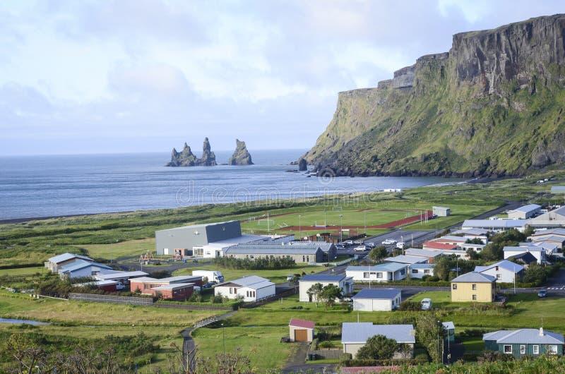 Ciudad de Vik, Islandia foto de archivo