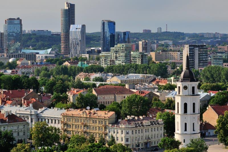 Ciudad de Vilnius fotos de archivo