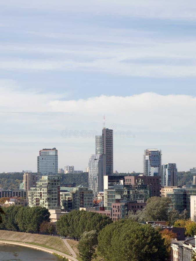 Ciudad de Vilnius foto de archivo