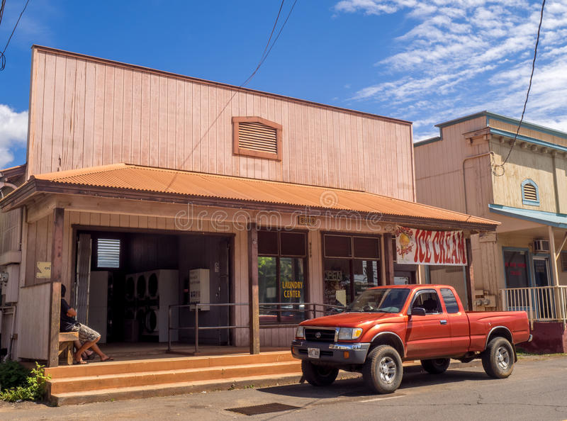 Ciudad de Waimea, Kauai foto de archivo