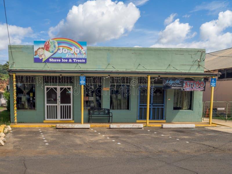 Ciudad de Waimea, Kauai imágenes de archivo libres de regalías