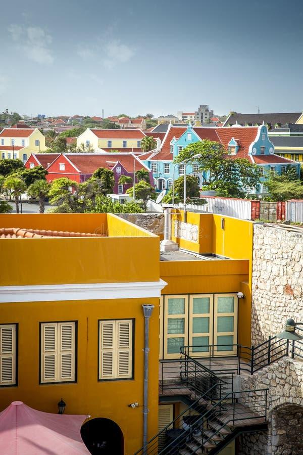Ciudad de Willemstad en Curaçao foto de archivo libre de regalías