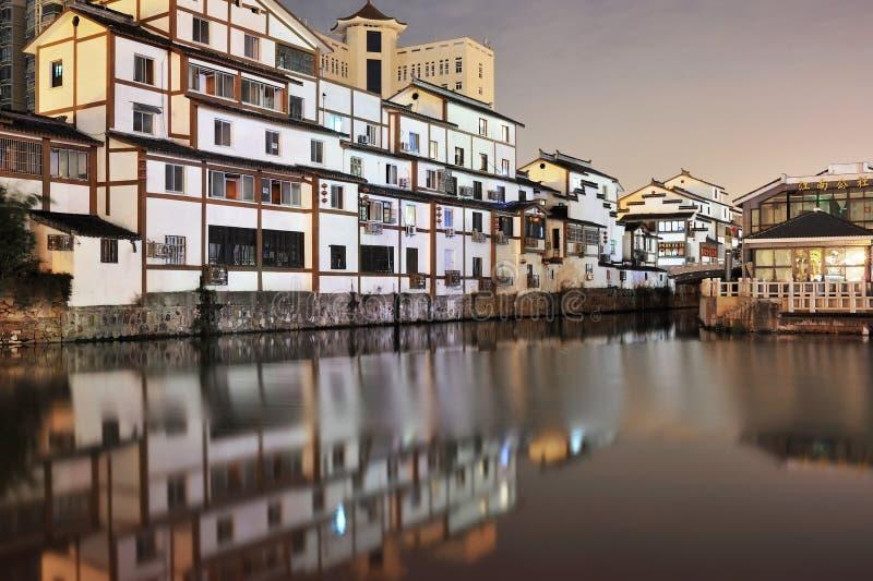 Ciudad de Wuxi en la noche imagen de archivo libre de regalías