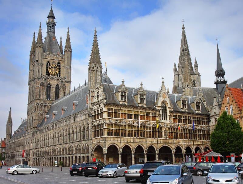 Ciudad de Ypres en Bélgica fotografía de archivo libre de regalías