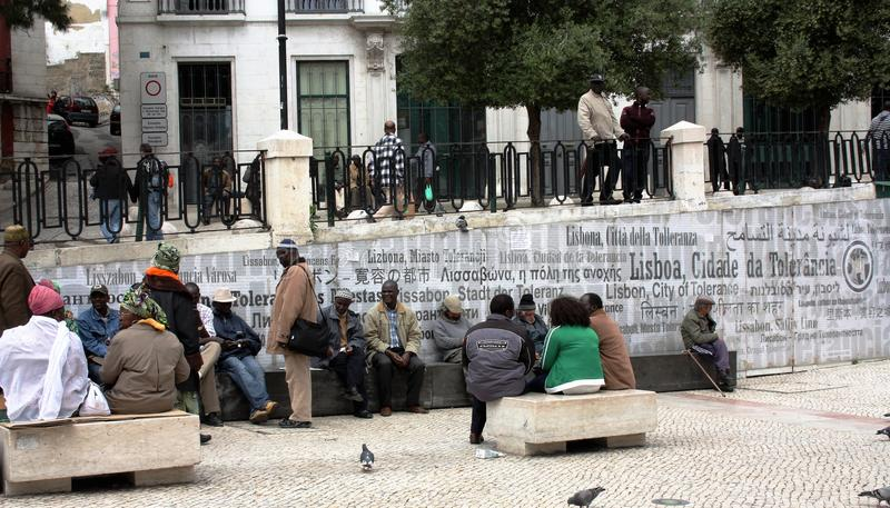 """Ciudad del """"The del †de Lisboa, Portugal """"del  de Tolerance†imágenes de archivo libres de regalías"""