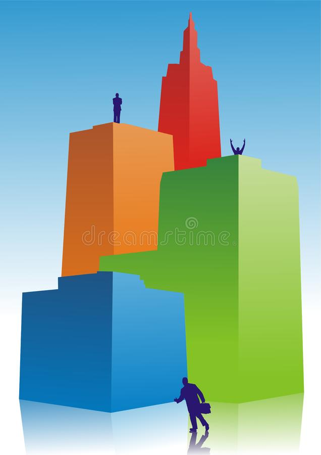 Ciudad del éxito ilustración del vector