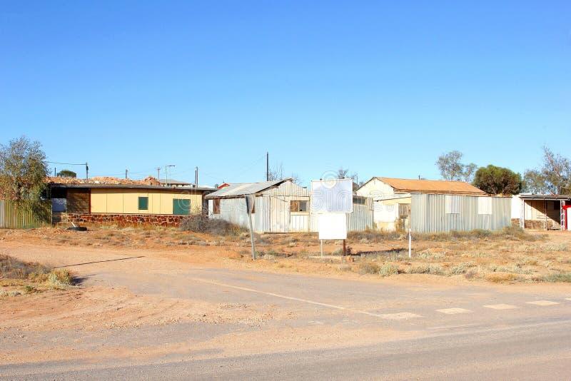 Ciudad del ópalo Andamooka, sur de Australia de la explotación minera imagenes de archivo