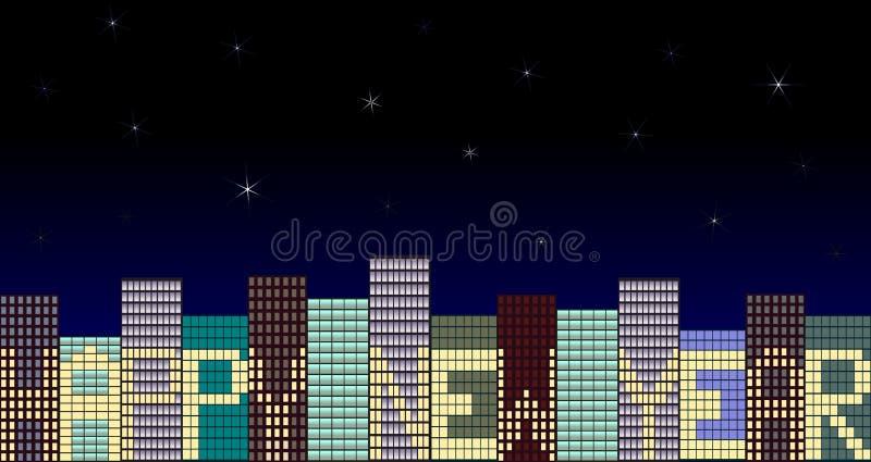 Download Ciudad del Año Nuevo stock de ilustración. Ilustración de fashionable - 7278792