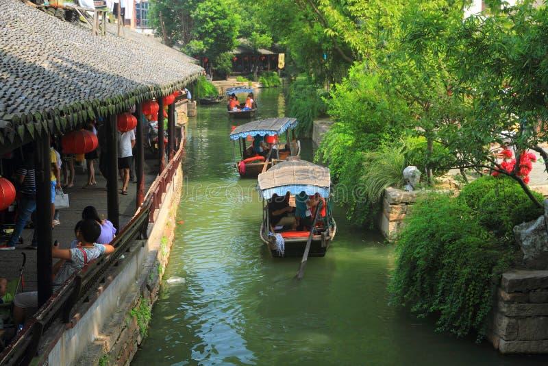 Ciudad del agua de Luzhi, Suzhou China fotografía de archivo libre de regalías