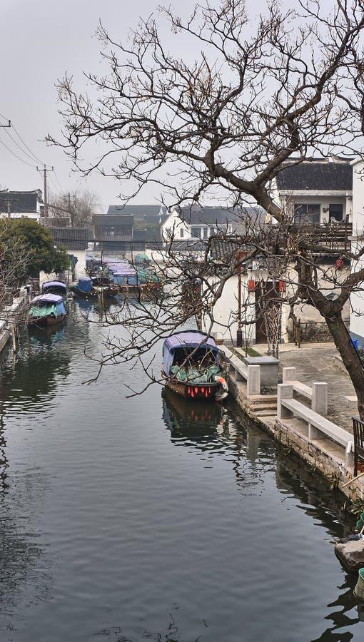 Ciudad del agua de Zhouzhuang fotografía de archivo