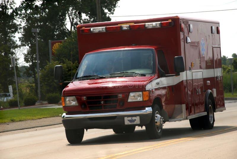 Ciudad del ambulanc del cuerpo de bomberos de Romulus Michigan fotos de archivo libres de regalías
