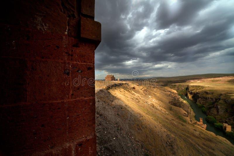 Ciudad del Ani, ruinas antiguas fotos de archivo libres de regalías