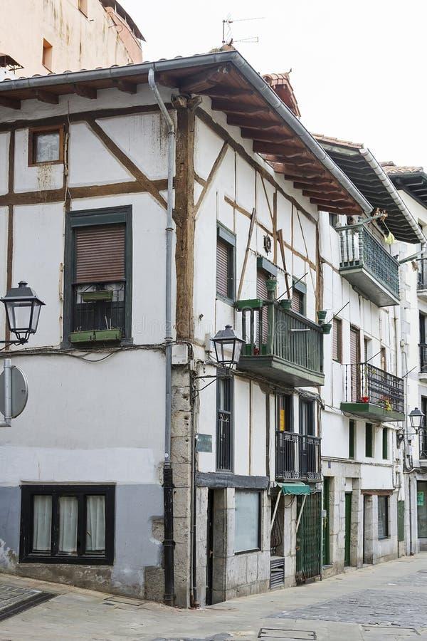 Ciudad del basque de Lekeitio foto de archivo libre de regalías