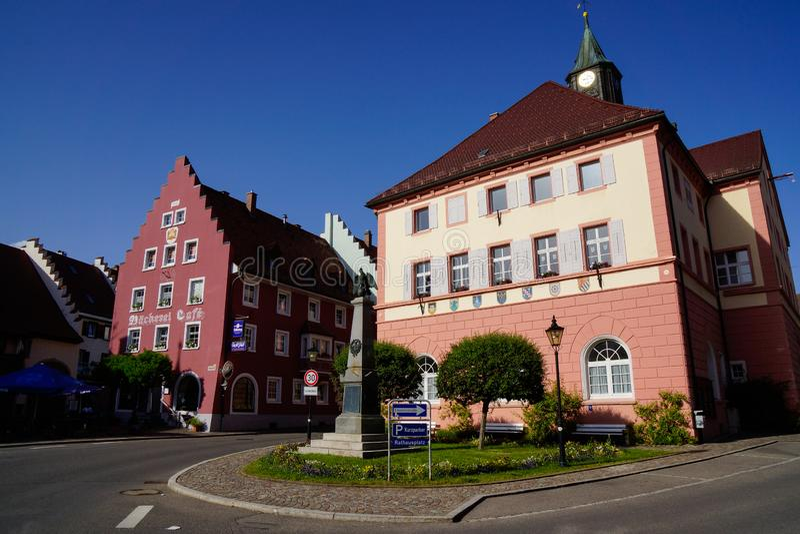 Ciudad del bosque negro del ayuntamiento de Loeffingen fotografía de archivo libre de regalías