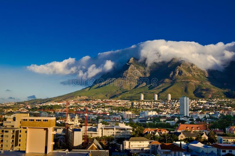 Ciudad del Cabo, montaña del vector foto de archivo libre de regalías