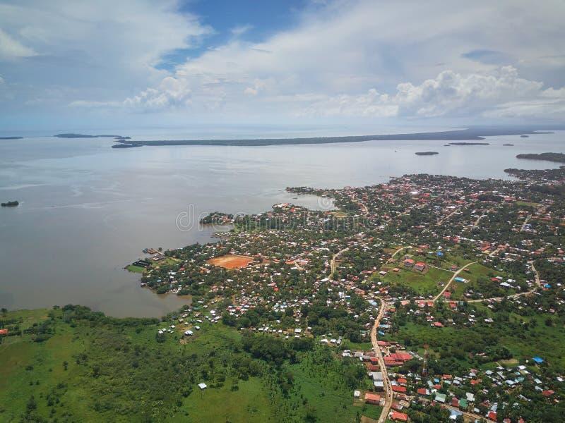Ciudad del Caribe en Nicaragua imagen de archivo libre de regalías