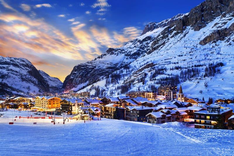 Ciudad del d'Isère de Val imagen de archivo libre de regalías
