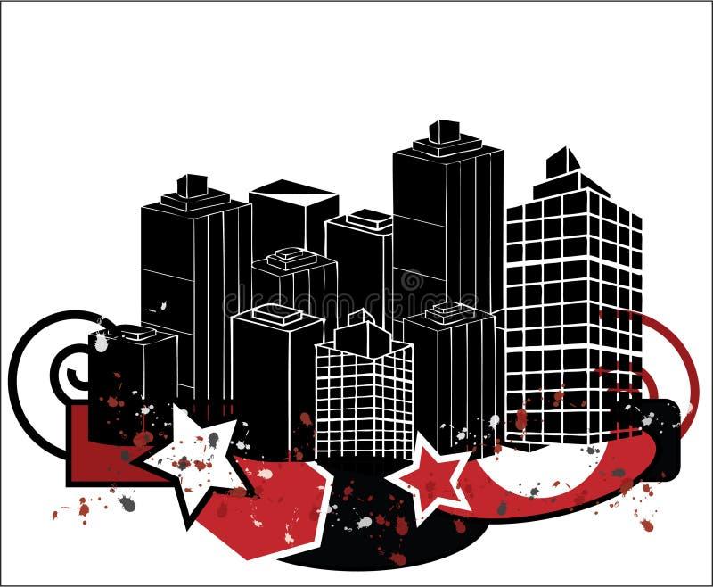Ciudad del estilo de Grunge libre illustration