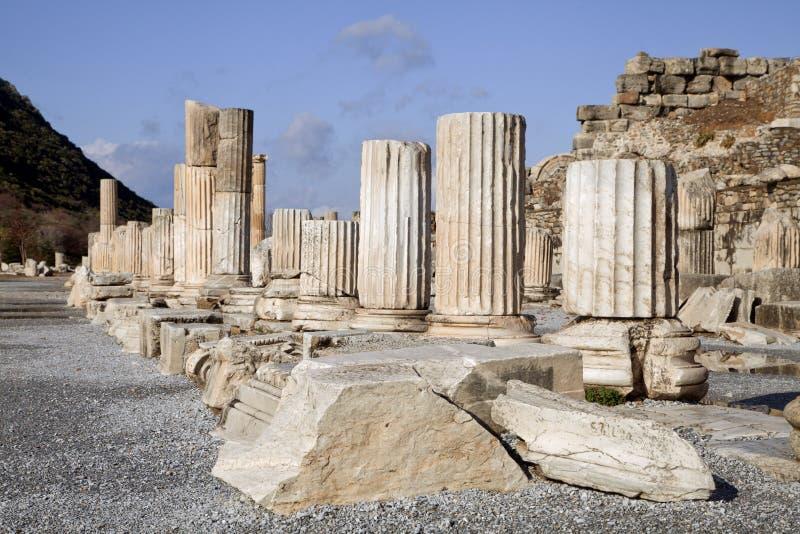 Ciudad del griego clásico de Ephesus en Turquía fotografía de archivo
