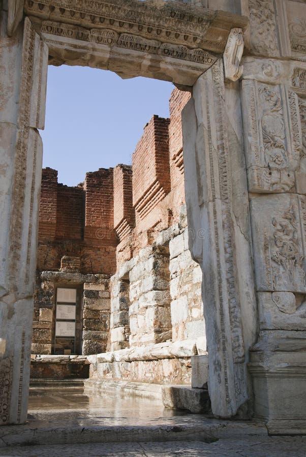 Ciudad del griego clásico de Ephesus en Turquía fotos de archivo