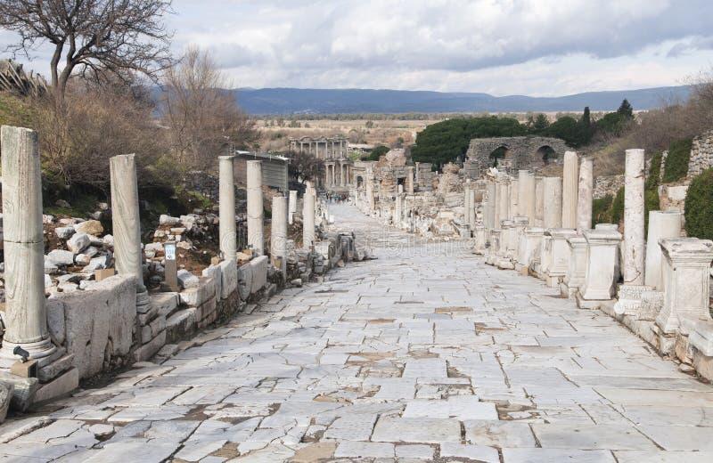 Ciudad del griego clásico de Ephesus en Turquía foto de archivo