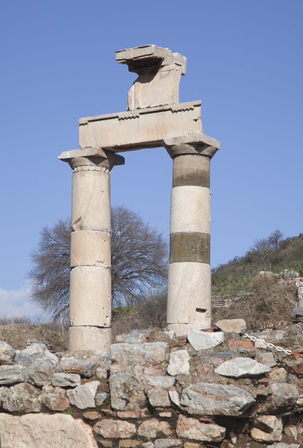 Ciudad del griego clásico de Ephesus en Turquía imagen de archivo