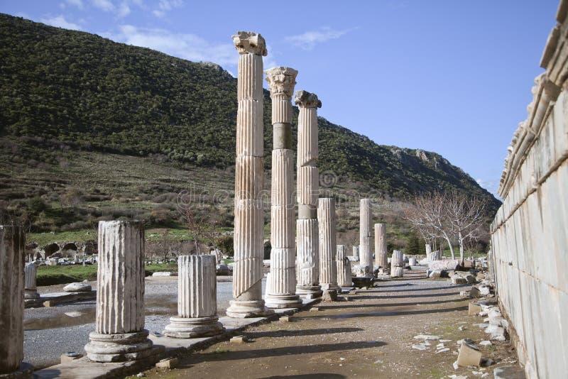 Ciudad del griego clásico de Ephesus en Turquía fotos de archivo libres de regalías