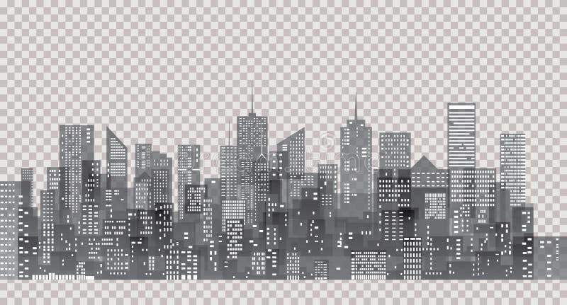 Ciudad del gris del transporte stock de ilustración
