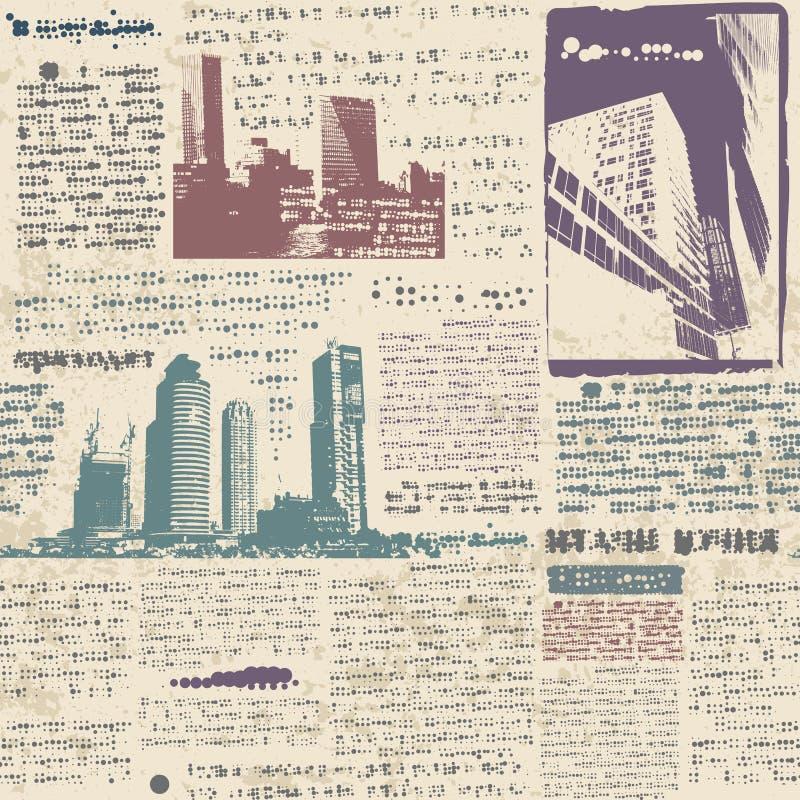 Ciudad del Grunge ilustración del vector