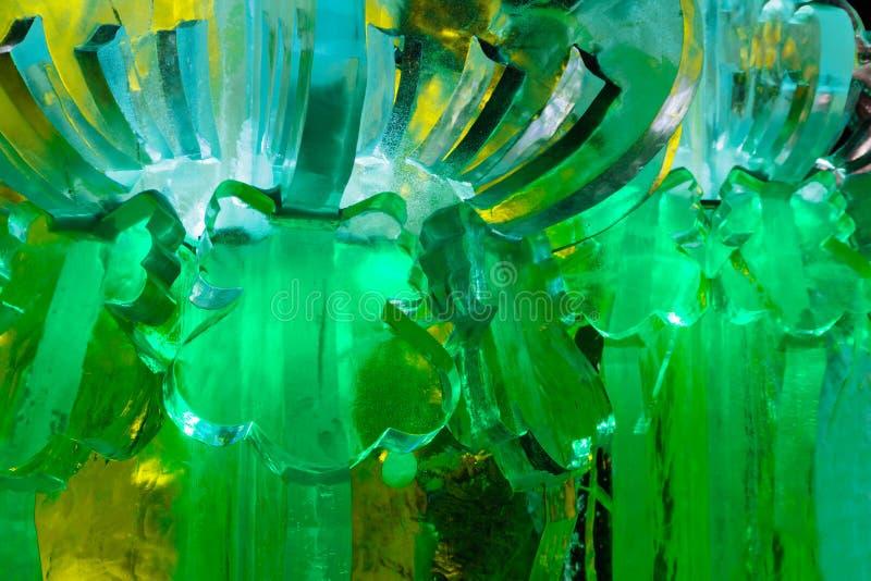 Ciudad del hielo del Año Nuevo en la noche foto de archivo libre de regalías