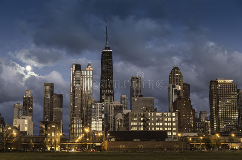 Ciudad del horizonte de Chicago fotos de archivo libres de regalías