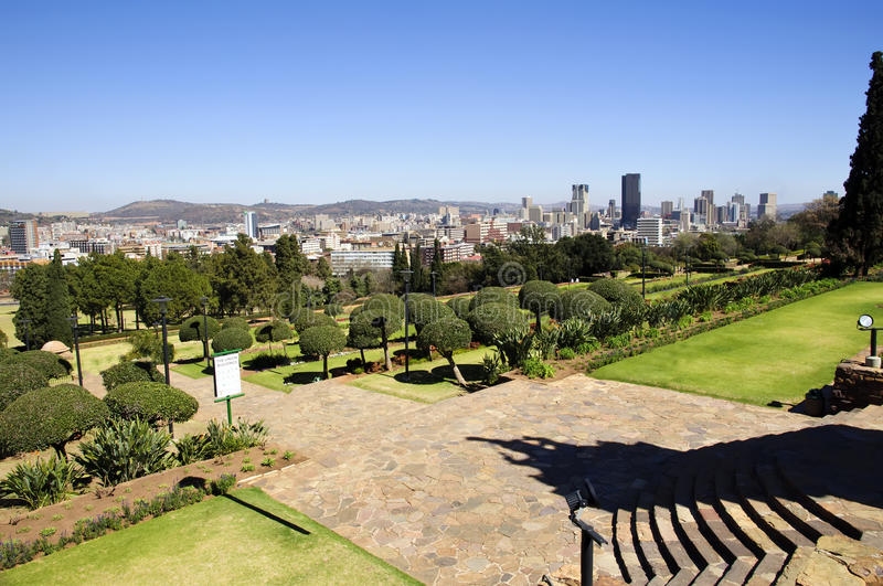 Ciudad del horizonte de Pretoria, Suráfrica fotografía de archivo libre de regalías