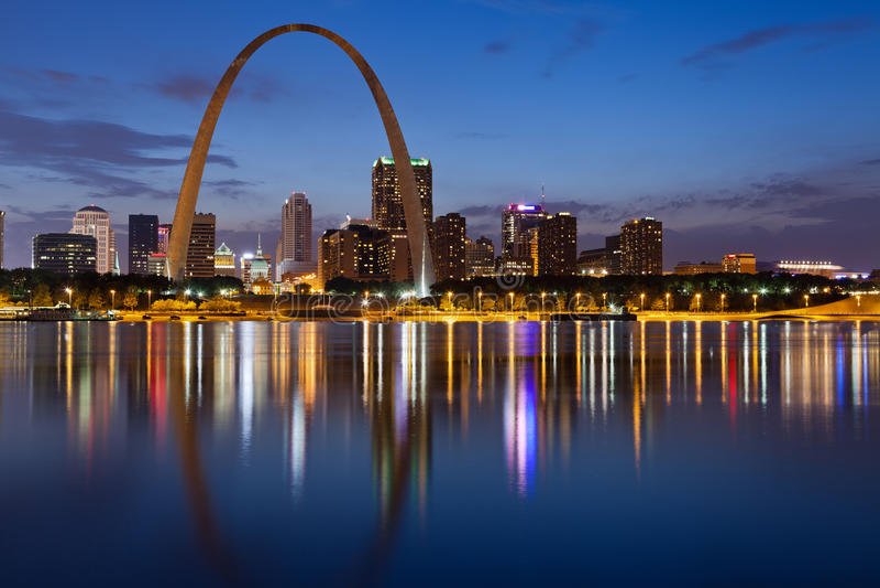 Ciudad del horizonte de St. Louis. fotos de archivo libres de regalías