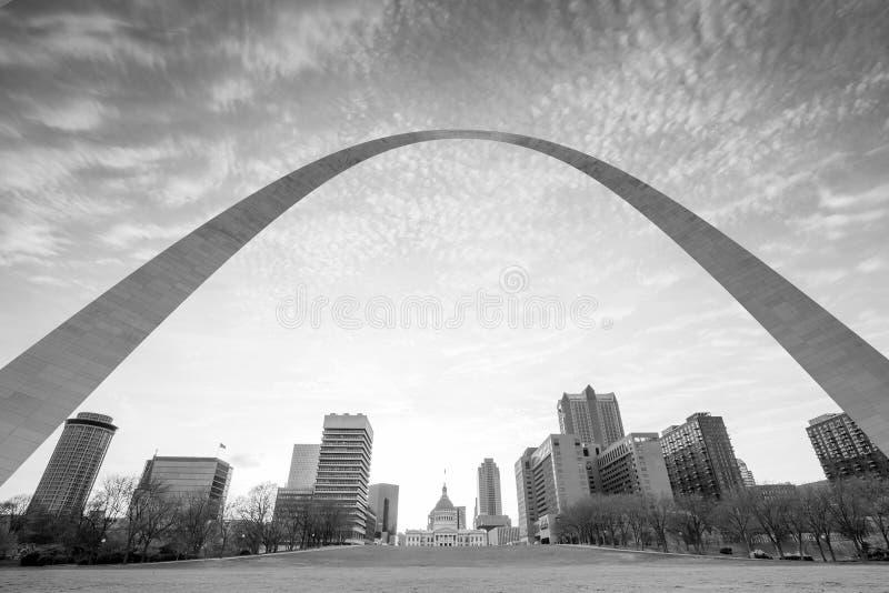Ciudad del horizonte de St Louis imagen de archivo